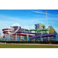 Quality Fun Backyard Custom Water Pool Slides For Family , Amusement Park / Water Park Equipment for sale