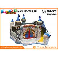 Wholesale 0.55mm PVC tarpaulin dragon bouncer combo games with slide inflatable bouncer castle from china suppliers