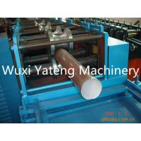 PPGI Material Rain Down Superior Pipe Roll Forming Machine Fly Saw Cutting Type