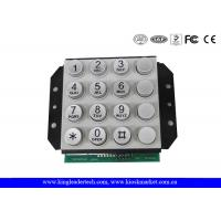 China 16 Keys PIN interface Zink Alloy Keypad, For Door Access Control or Phone System Use wholesale