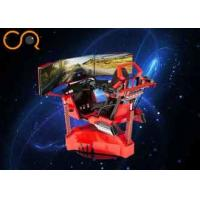 Red Fashion VR Racing Simulator 1-2 Player AC 220V With Electric Cylinder