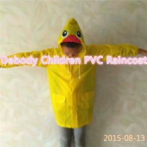 China Yellow Children Raincoat wholesale
