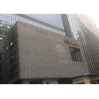 China Plaza Facade Wall Decoration By Perforated Aluminum Panel With PVDF Coating wholesale