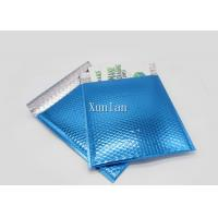 Self Adhesive Tape Padded Shipping Envelopes Printed With Blue Color Bubble
