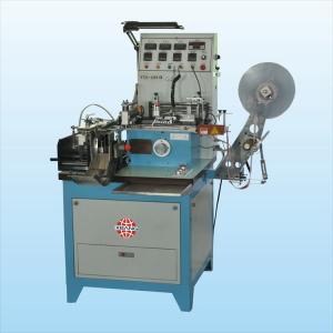 Woven Label Cutting And Folding Machine / Flat Bottle Labeling Machine