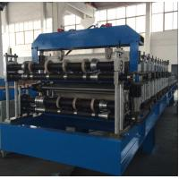 China Double Layer Sheet Metal Forming Equipment , Metal Roofing Roll Forming Machine Manual Decoiler wholesale