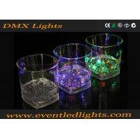 China Multicolor LED Plastic Cups , Liquid Activated Lighted Shot Glass wholesale