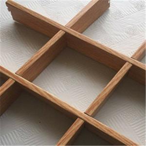Grid Type Wood Finishes Aluminum Veneer Panel Aluminium Alloy For Office Building