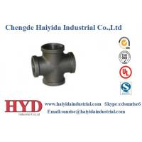 Wholesale Cross black malleable iron pipe fitting cast iron UL factory from china suppliers