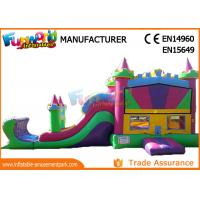 Buy cheap Kids Inflatable Bouncer Slide , 0.55mm PVC Tarpaulin Combo Castle from wholesalers