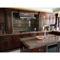Classic Villa Cherry Wood Kitchen Cabinets With Stainless Steel Appliances