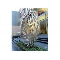 Wholesale Hollow Eggs Stainless Steel Sculpture Modern Installation Art Sculpture from china suppliers