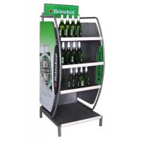Wholesale 3 Shelves Digital printing Logo Metal Display Racks For Beverages from china suppliers