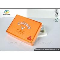 Wholesale Foldable Orange Cardboard Gift Boxes For Clothes / Candy / Chocolate from china suppliers