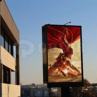 China IP65  Ph10mm Single Pole High Brightness Outdoor LED Billboard for Advertising Commercial wholesale