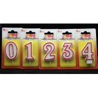 Wholesale Number Birthday Candles With Red Edge And Plastic Holder from china suppliers