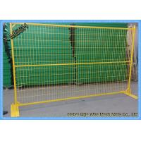 Portable Temporary Metal Fence Panels PVC Coated Steel Feet  6' X 8' Size