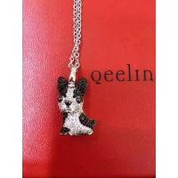 China Qeelin Puppy Bo Bo pendant in 18K white gold with pave diamonds and sapphires Necklace wholesale