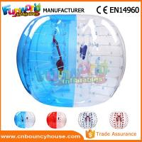 China Transparent Inflatable Bubble Ball / Inflatable Zorb Ball Large Hot Air Welded wholesale