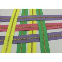 Wholesale Metal Ykk Sewing Notions Zippers ,  Pink / Green / Purple Tape 9 Inch Separating Zipper from china suppliers