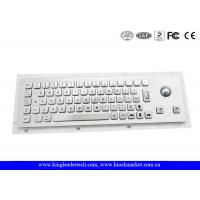 China Small Dimension Brushed Metal Industrial Panel Mount Keyboard With 25mm Diameter Trackball wholesale