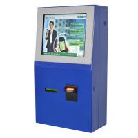 Tel / Transport Card Recharging Multimedia Kiosks with Card Printer and Coin Hopper