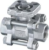 China 3PC Screwed Ball Valve with Mounted Pad wholesale