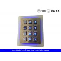 China Outdoor Security Backlit Metal Keypad Vandal Resistant Garage Illuminated Numeric Keypad wholesale