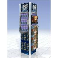 China Professional 4 Side Supermarket Metal Retail POS Display Stand With LCD wholesale