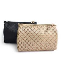Nylon Square Zipper Cosmetic Bags , Quilted Two Compartment Makeup Bag