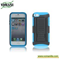 China PC+silicone case for iphone5, Belt clip cover, transformers design wholesale