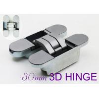 China 60kgs Loading Zinc Alloy Adjustable 3d Invisible Hinges For Wood Door wholesale