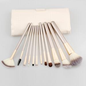 China 12pcs Cosmetic Brush Set Professional Makeup Brush Set With PU Bag wholesale