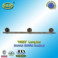 Wholesale H023 metal coffin long bar made of zamak zinc herrajes de ataudes 1 meter with 3 bases from china suppliers