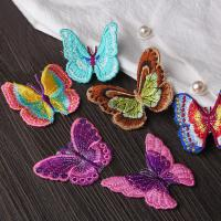 Wholesale Small Butterfly Iron On Embroidered Applique Patches Cloth Badge For Clothes Customized from china suppliers
