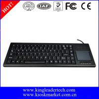 China 87 Keys Plastic Industrial Keyboard with Optical Touchpad , USB or PS / 2 wholesale