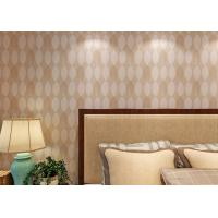 China Bronzing Leaf Bedding Room Home Wall Decor Wallpaper Adult Style , Economical wholesale