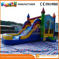 Wholesale Outdoor Inflatable Combo Slide , childrens bouncy castle With Pool from china suppliers