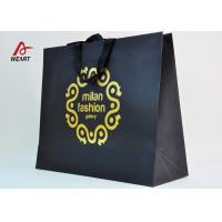 Cotton Ribbon Personalized Wine Bags Paper Material , Custom Business Shopping Bags