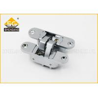 China Three Way Wardrobe Invisible Door Hinges , Zinc Alloy European Door Hinge wholesale
