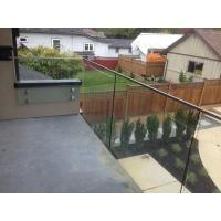 balcony simple design easy installation standoff glass railing