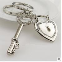 Buy cheap Promotional Creative 3d Engraved Metal Keychains For Wedding Return Gift from wholesalers
