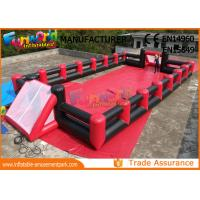 Buy cheap PVC tarpaulin Fireproof Inflatable Soap Football Field New Inflatable Soccer Field from wholesalers