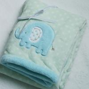 Elephant Design Coral 100 Percent Polyester Blanket Flame Retardant