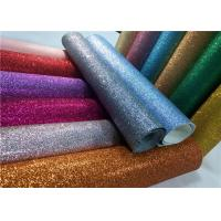 Decoration 50meters One Roll PU Glitter Fabric Synthetic Leather Material With 54