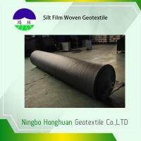 Wholesale Black PP 136G Silt Film Woven Geotextile Circle Loom Grab Tensile 900N Roll Size 12.5'*432' from china suppliers