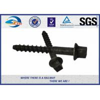 China 8.8 Grade  45# Oxide Black Screw Spike Insert Plastic Dowel for Railway Fastening system wholesale