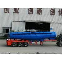 Concentrated Sulfuric Acid Tanker Truck V Shape 21000L H2SO4 98% Tri Axle BPW
