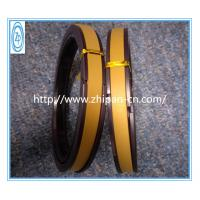 Yellow PTFE Hydraulic Piston Seals 60% Bronze High Temperature Resistance