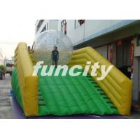 Wholesale 0.55mm PVC Tarpaulin Inflatable Zorb Ramp with continue air blower from china suppliers